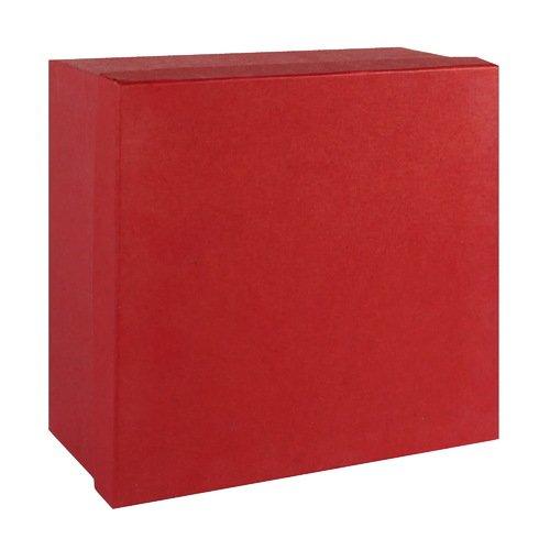 Подарочная коробка, красная, 18 х 18 х 9 см подарочная коробка зигзаги 9 х 16 х 23 см