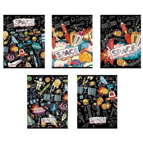 Тетрадь Космическое граффити А5, 48 листов, в клетку, в ассортименте