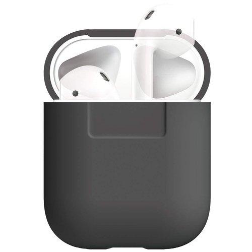 Чехол для AirPods Silicone case, темно-серый чехол