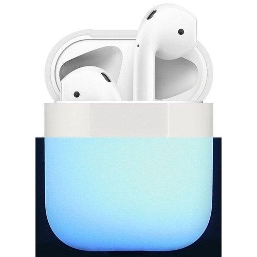 Чехол для AirPods Silicone case. Nightglow blue крепление для airpods earhook nightglow blue 2 шт