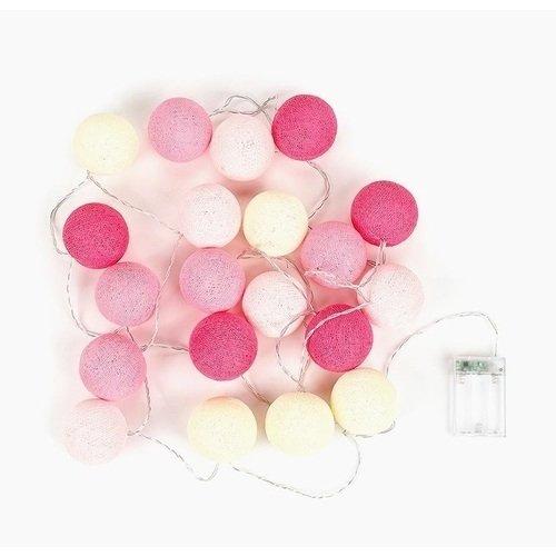 """Гирлянда на батарейках """"Розовая"""", 20 шаров, 3,5 м"""