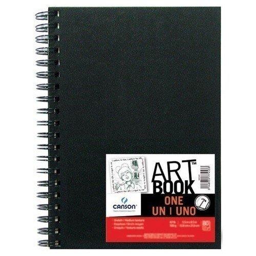"""Блокнот для зарисовок """"One"""", 10,2 х 15,2 см, 80 листов, 100 г/м2, черный"""