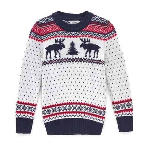 Детский свитер c оленями, размер 140