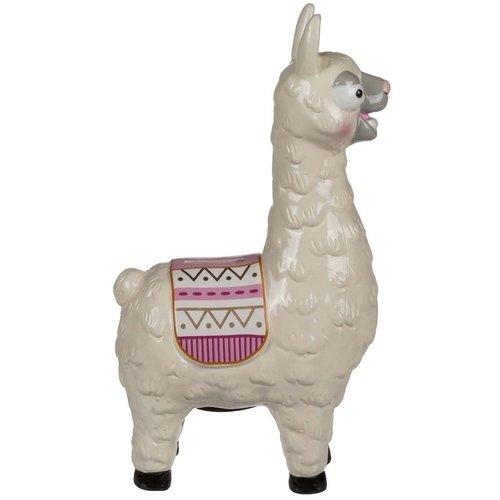 Керамическая копилка Лама с седлом копилка лама