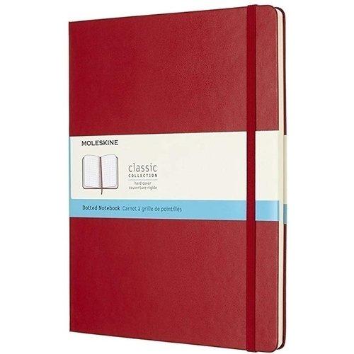 "Блокнот ""Classic Soft"" XLarge, 19 х 25 см, 192 стр., пунктир, красный"