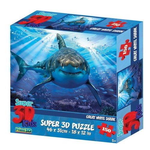 Купить Пазл Super 3D Большая белая акула 2 , 150 деталей, Prime3D, Пазлы