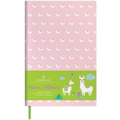 Записная книжка Vision. Alpaca, А5, 80 листов, в клетку