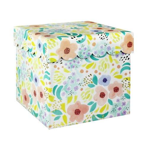"Коробка подарочная ""Цветы"", 18,1 х 17,5 см"