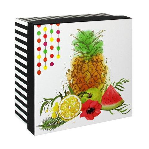 Подарочная коробка Ананас, 20 х 20 х 10,5 см коробка подарочная veld co свадебный бабочки цвет слоновая кость 18 х 18 х 26 см