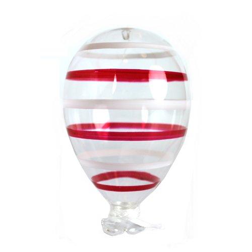 цена на Новогодний шар, 9 х 15 см, красно-белый