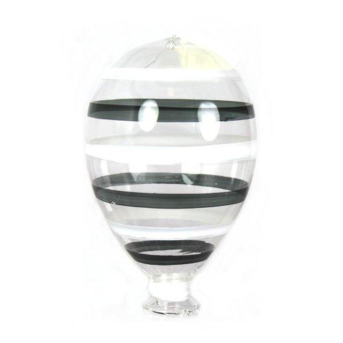 цена на Новогодний шар, 9 х 15 см, черно-белый