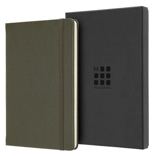 Блокнот Limited Edition Leather Large, 96 листов, в линейку, 13 х 21 см, темно-зеленый татиана северинова изблокнота памяти