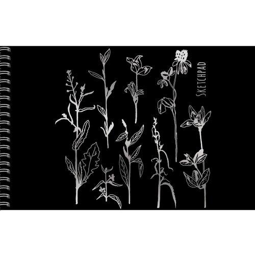 """Скетчпад """"Цветочные мотивы"""", 20 листов, 200 г/м2, 17 х 25 см"""