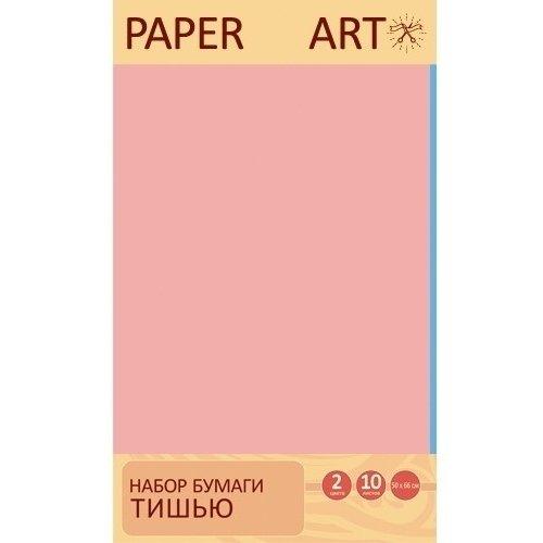 """Набор бумаги тишью """"Голубой и пудрово-розовый"""", 2 цвета, 10 листов"""