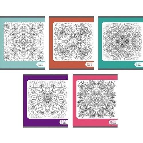 Тетрадь Восхитительные узоры А5, 96 листов, в клетку, в ассортименте тетрадь attache a4 96 листов 68568
