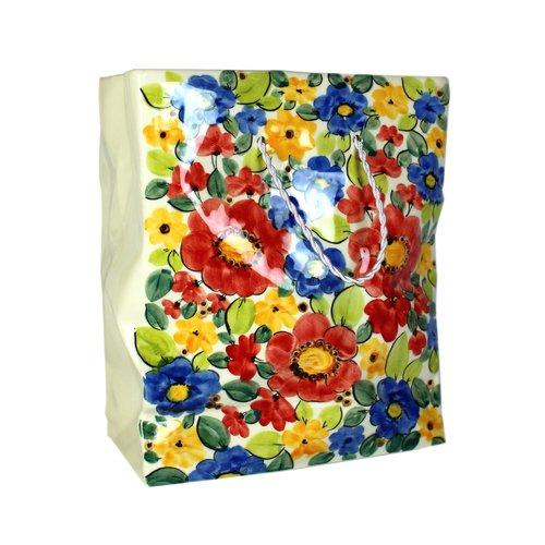 Ваза Пакет большой. Цветы ваза керамическая 14 х 10 х 38 см