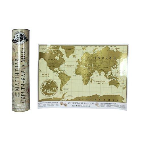 Магнитная скретч-карта мира