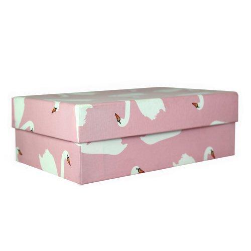 Коробка подарочная Лебеди, 19 х 12 6,5 см