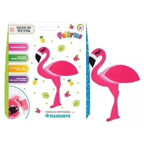 Набор для творчества Шьем из фетра. Фламинго maxi art набор для творчества игрушка из фетра щенок