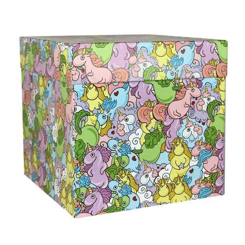 """Коробка подарочная """"Цветные единороги"""", 23 х см"""