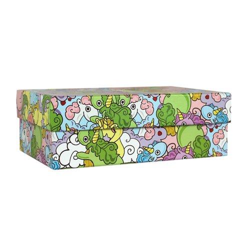 Коробка подарочная Цветные единороги, 19 х 12 7 см