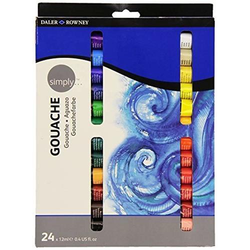Набор гуаши Simply, 24 цвета набор масляных красок simply 24 12 мл