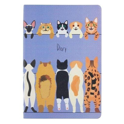 Арт-ежедневник недатированный Всюду кошки. Дизайн 4 А5, 128 листов ежедневник недатированный listoff орнамент павлиний окрас а5 128 листов