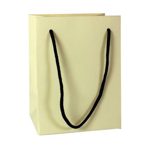 Подарочный пакет, 12 х 16 х 9 см, бежевый