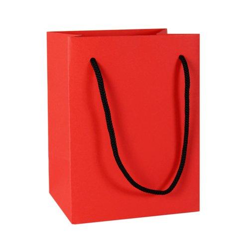 Подарочный пакет, 12 х 16 х 9 см, красный
