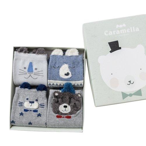 Набор носков «Белый мишка», 4 пары, 35-39 набор носков girlfriend 36 39 2 пары
