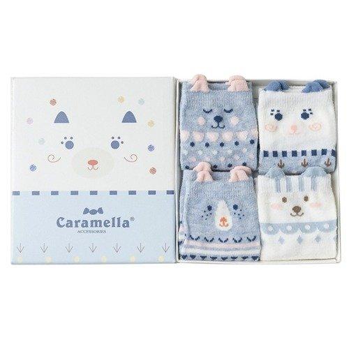 Набор носков «Мишки» голубые, 4 пары, 22-25 набор носков girlfriend 36 39 2 пары