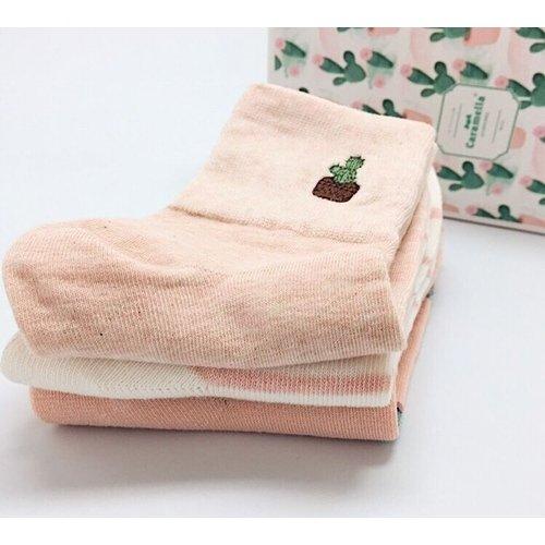Набор носков «Кактусы», 3 пары, 22-25 набор носков girlfriend 36 39 2 пары