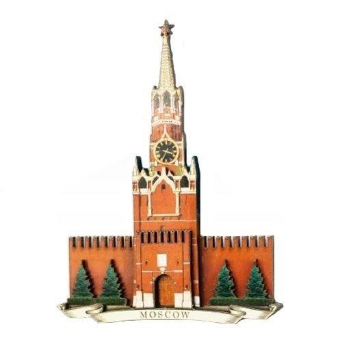 Магнит Спасская башня 3D брошь спасская башня
