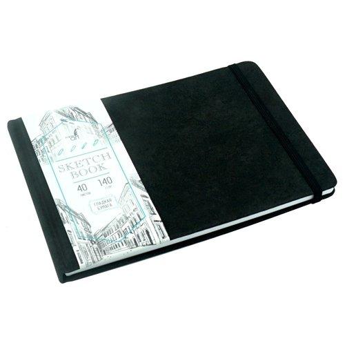 """Скетчбук """"Artclass"""" А5, 40 листов, 140 г/м2, черный"""