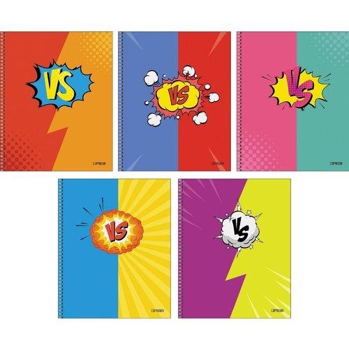 Тетрадь Дуэль цвета А5, 80 листов, в клетку, в ассортименте ульяновский дом печати тетрадь 80 листов в клетку то 508