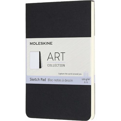 """Блокнот для рисования """"Art Soft Sketch Pad"""", 88 страниц, 9 х 14 см, черный"""