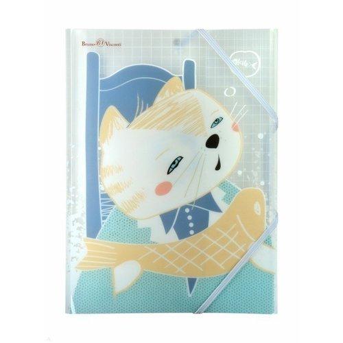 Папка на резинке Коты в японском стиле А4, в ассортименте папка на резинке природные цветы a4 в ассортименте