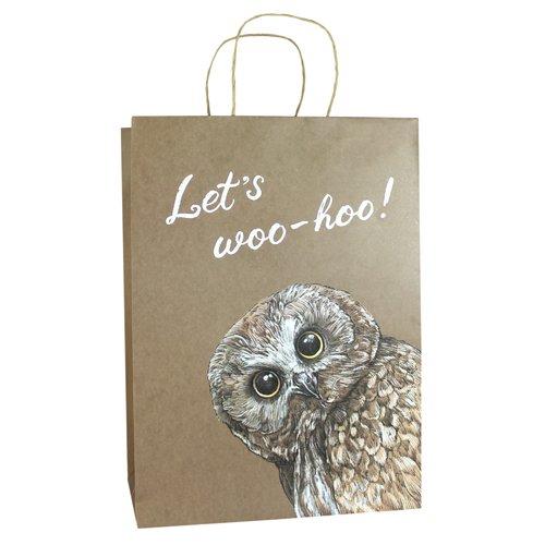 Пакет «Сова», 35,5 х 28 х 15 см пакет открытка подарочный дарите счастье бриллиант цвет мультиколор 6 х 12 х 15 см 866508