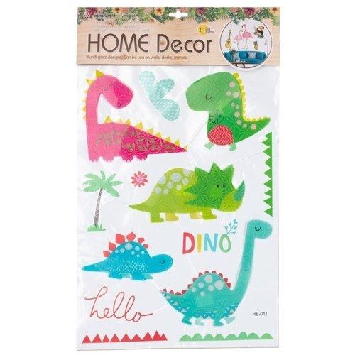 Декоративная интерьерная наклейка Динозавры 1, 37 х 62 см наклейка декоративная оранжевый слоник коты 45 х 35 см 45dn011rgb