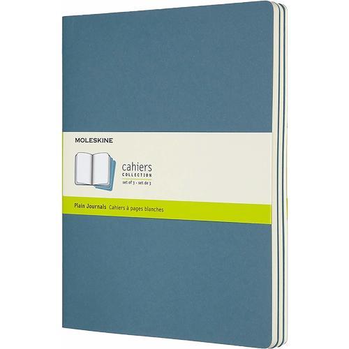 """Блокнот """"Cahier Journal"""" XLarge, 60 листов, 70 г/м2, нелинованный, 19 х 25 см, голубой"""