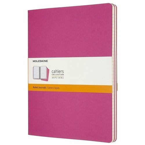 """Блокнот """"Cahier Journal"""" XLarge, 60 листов, в линейку, 19 х 25 см, розовый неон"""