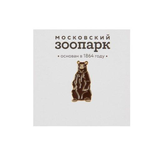 "цена Значок металлический ""Бурый медведь"" онлайн в 2017 году"