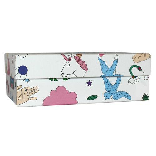 Подарочная коробка Фан, 19 х 12 х 7 см