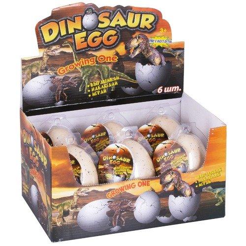 Яйцо с динозавром, растущим в воде, большое, в ассортименте