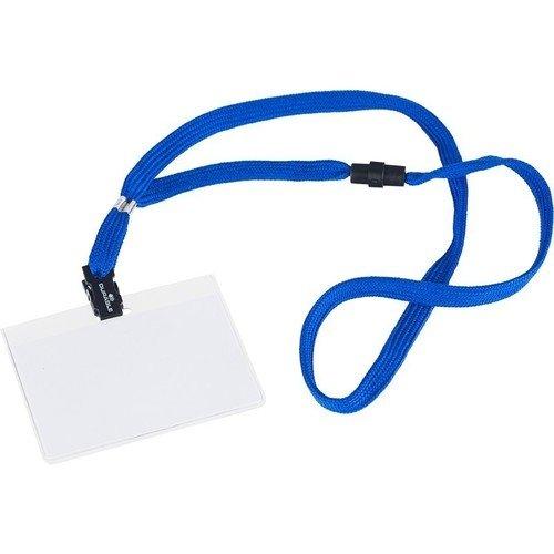 Шнурок для бейджа, 10 мм, синий