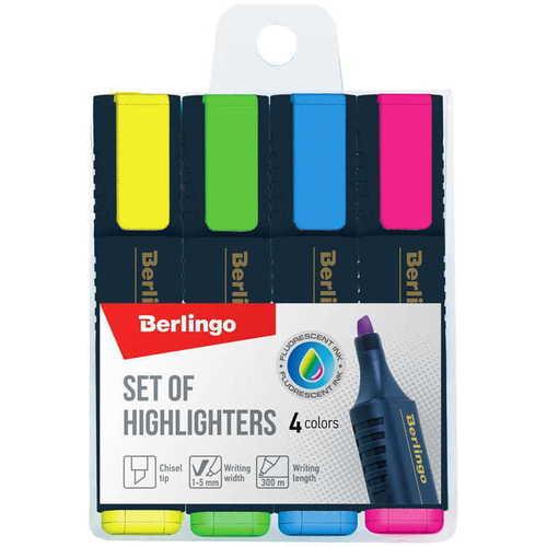 Набор текстовыделителей, 1-5 мм, 4 цвета набор для творчества пластилин eberhard faber на водной основе 4 неоновых цвета 520гр в карт коробке