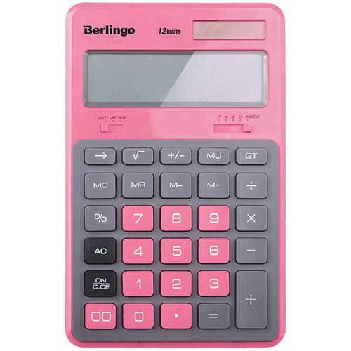 "Калькулятор настольный ""Hyper"", розовый"