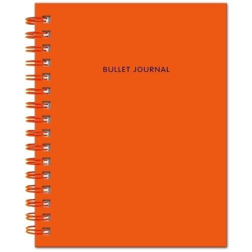 """Блокнот """"Bullet Journal"""", 60 листов, в точку, 16,2 х 21 см, оранжевый"""