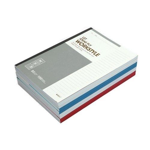 Блокнот B5, 100 листов, в линейку, 17,9 х 25,2 см, в ассортименте блокнот в5 121 стр а в линейку изумрудный