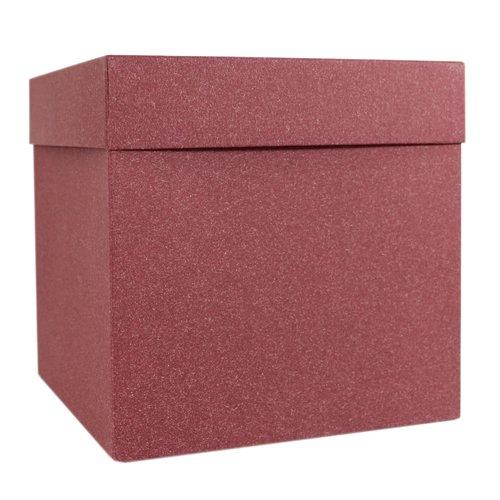 Подарочная коробка, 15,5 х см, бордовая